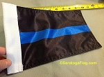Motorcycle Flag- Police Blue Line
