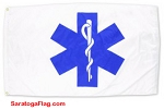 EMS - STAR OF LIFE FLAG