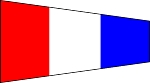 SIGNAL FLAG- Pennant-3-Three