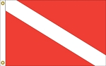 NAUTICAL- SKIN DIVER FLAG
