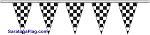 Poly Pennant Strings Streamers - Checkered Black & White