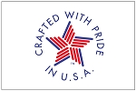 CRAFTED WITH PRIDE IN USA- Applique Stitched Flag