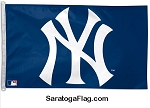 NYY- New York Yankee Logo- Blue Flag