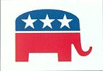 Republican Elephant Logo Flag