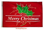 .Christmas Flag_Merry Christmas Holly
