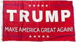 ...TRUMP- Make American Great Again FLAG- Red-
