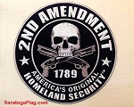EMBROIDERED PATCH (Large): Second Amendment/ 9inch diameter