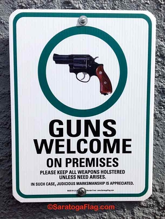 "SIGN: GUNS WELCOME SIGN (12"" x 16"")"