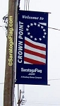 .CROWN POINT- Canvas STREET POLE Banners