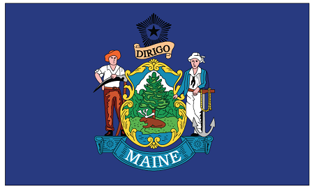Home gt flag catalog stock items gt state flags gt maine state flag