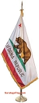 .Indoor Presentation Kit- CALIFORNIA state Flag - DELUXE_7ft_8ft_9ft Pole