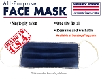 1a) BLUE FACE MASK - All-Purpose_Single-Ply-Nylon-BULK QUANTITY
