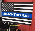 LAWN SIGNS- #BackTheBlue-USA- 12 signs per case