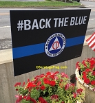 LAWN SIGNS- #BackTheBlue- 12 signs per case