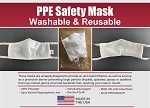 SAFETY BARRIER MASKS - Made in USA -PPE- BULK 100 Quantity Lots