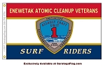 Enewetak Atomic Cleanup Veterans Flag-SURF RIDERS