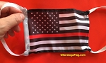 4) Novelty FACE MASKS - FIRE SUPPORT-Red Line USA Flag