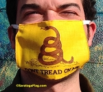 4b) Novelty FACE MASKS -Gadsden Flag- Dont Tread On Me