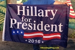 ...HILLARY- For President 2016 FLAG- Blue