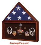 Display Case- Memory Military Flag Medal Case