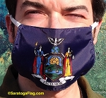 4c) Novelty FACE MASKS -New York State Flag