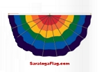 Bunting-Pleated Fan- RAINBOW Pride-Nylon 3ft x 6ft