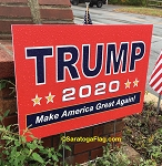 LAWN SIGNS- TRUMP 2020 MAGA- 12 signs per case