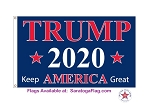 ...TRUMP- 2020 Keep America Great- Nylon 3x5ft Flag-Made in USA
