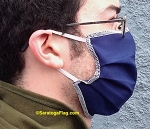 1b) BLUE FACE MASK - All-Purpose_Single-Ply-Nylon