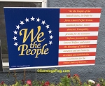 LAWN SIGNS- We The People-Preamble-Constitution-USA- 12 signs per case