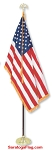.Indoor Presentation Kit- USA Flag - ECONOMY 7ft Pole