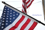 USA FLAG KIT- Made In USA- Black pole