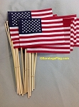 USA Handheld Stick Flags - 4x6 inch Bulk Quantity