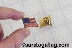 LAPEL PIN: USA FLAG