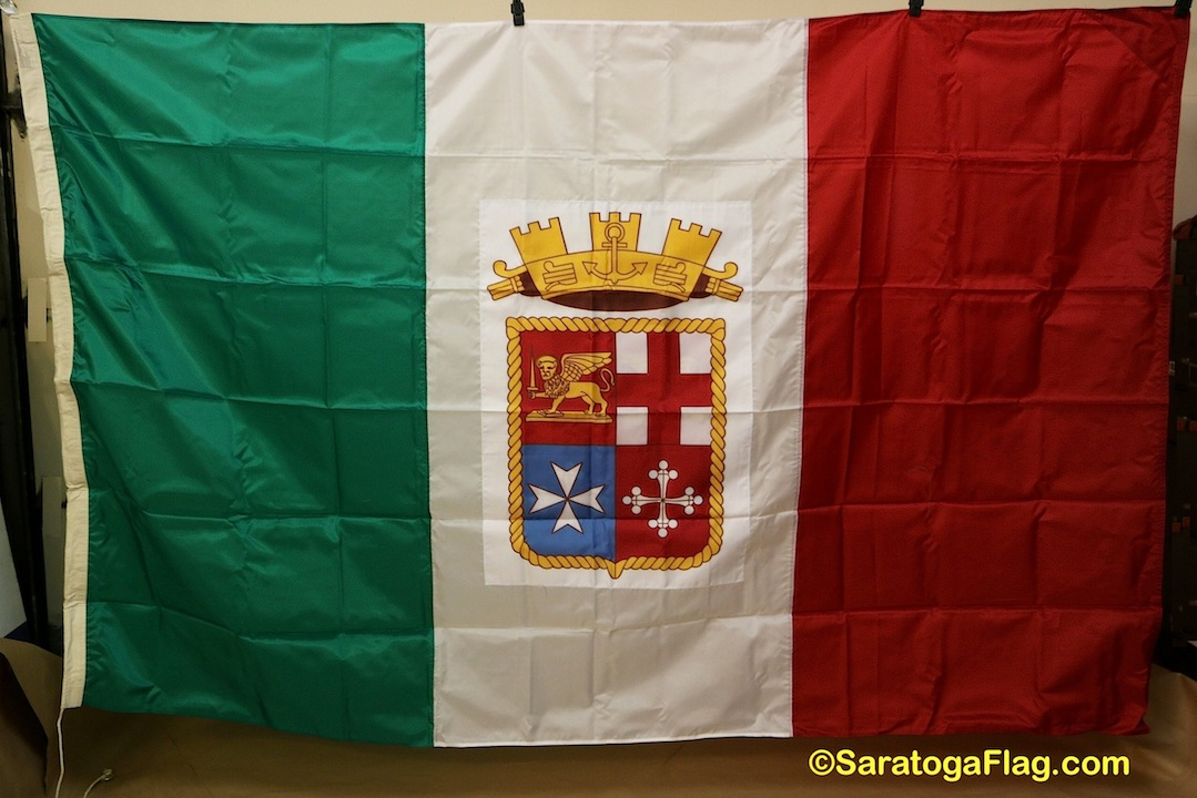 Italian Flag: Italian Ensign Italy Flag- VINTAGE