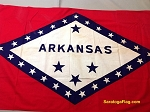 ARKANSAS STATE FLAG- 3x5ft Cotton -Used Vintage- SOLD
