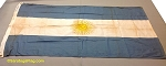 ARGENTINA- 3x5ft Cotton Flag - Used Vintage