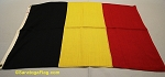 BELGIUM- 2x3ft Wool Flag - Used Vintage