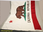 CALIFORNIA FLAG- 5x8ft Cotton - Vintage