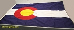 COLORADO FLAG- 4x6ft Cotton-Poly - Vintage-- SOLD