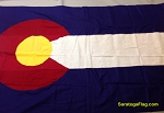 COLORADO STATE FLAG- 3x5ft Cotton -Used Vintage-SOLD
