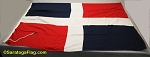 DOMINICAN REPUBLIC- 3x4ft Flag WOOL Vintage