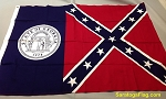 GEORGIA STATE FLAG-Confederate- 3x5ft Cotton Historical Vintage-SOLD