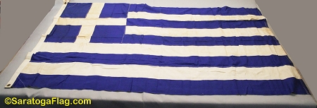 GREECE- 4x6ft Cotton Flag - Used Vintage