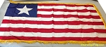 LIBERIA- 3x5ft Flag Nylon Vintage