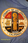 LOS ANGELES COUNTY Flag- 8x12ft Cotton Vintage- Used