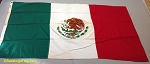 MEXICO- 3x5ft Cotton Flag - Used Vintage-SOLD