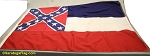 MISSISSIPPI  FLAG- 4x6ft Cotton-Poly - Vintage