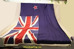 NEW ZEALAND- 5x9ft Flag WOOL Vintage
