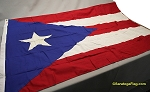 PUERTO RICO FLAG- 4x6 ft Cotton - Vintage